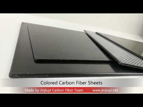 Colored Carbon Fiber/Kevlar Sheet-Jinjiuyi