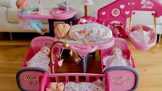 How to assemble fĮat Pack Dolls Furniture and make arrangement - Dolls large nursery center Assembly