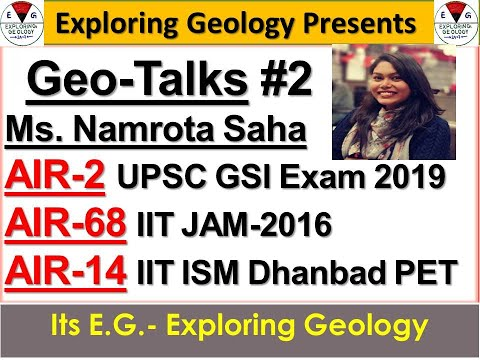 UPSC GSI Exam-2019  AIR-2 talked about her Exam strategy, Academic journey and many more| Geo-Talks