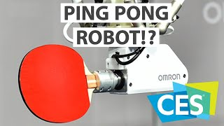 Who is better Ping Pong player? OMRON Robot ! | CES 2019
