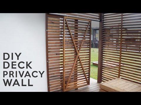 DIY Deck privacy wall | Tašelių sienelės įrengimas terasoje