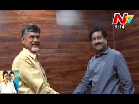 Kumar Mangalam Birla Meets Chandrababu