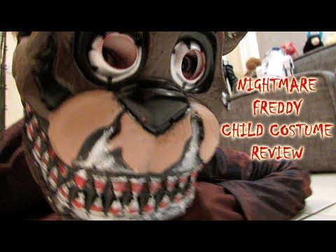 NIGHTMARE FREDDY Child Costume UNBOXING Review HALLOWEEN| FNAF Five Nights at Freddy's| OskieWhiskie