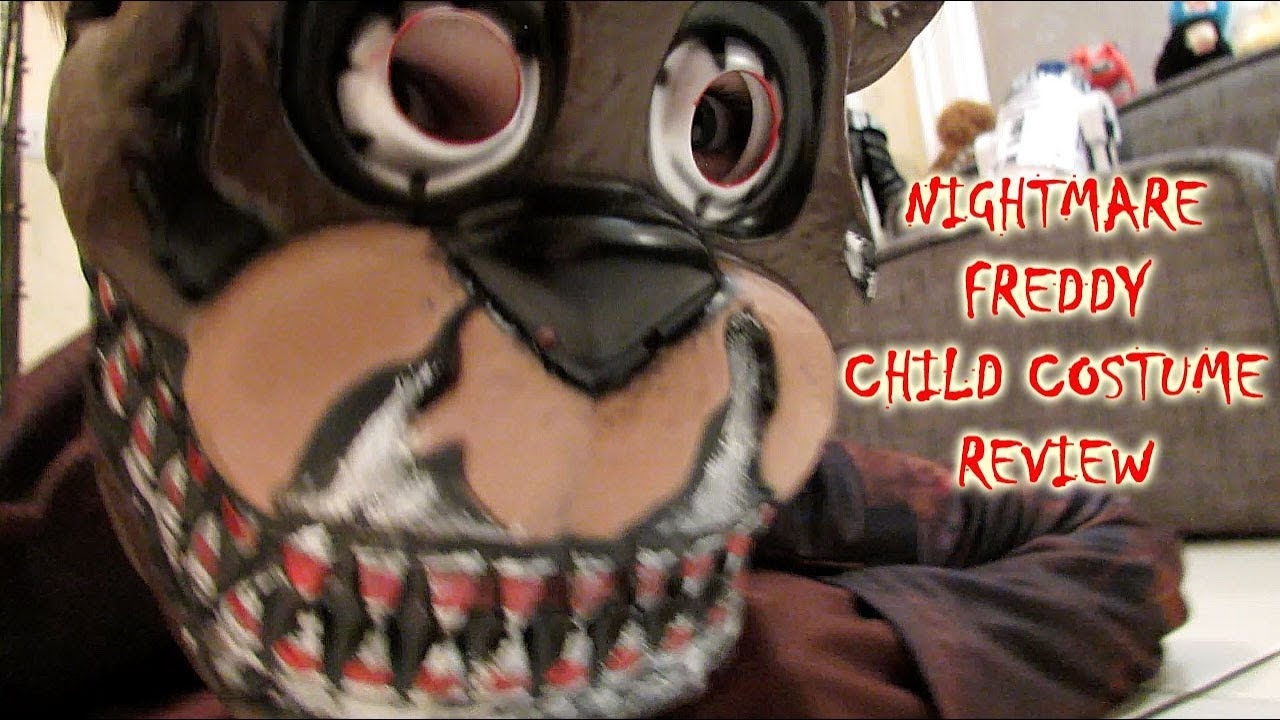 NIGHTMARE FREDDY Child Costume UNBOXING Review HALLOWEEN| FNAF Five Nights at Freddyu0027s| OskieWhiskie & NIGHTMARE FREDDY Child Costume UNBOXING Review HALLOWEEN| FNAF Five ...