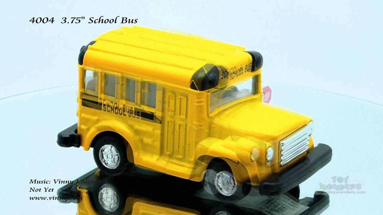 "6.25/"" Pull Back City School Bus 9833 With Stop Sign Movable."