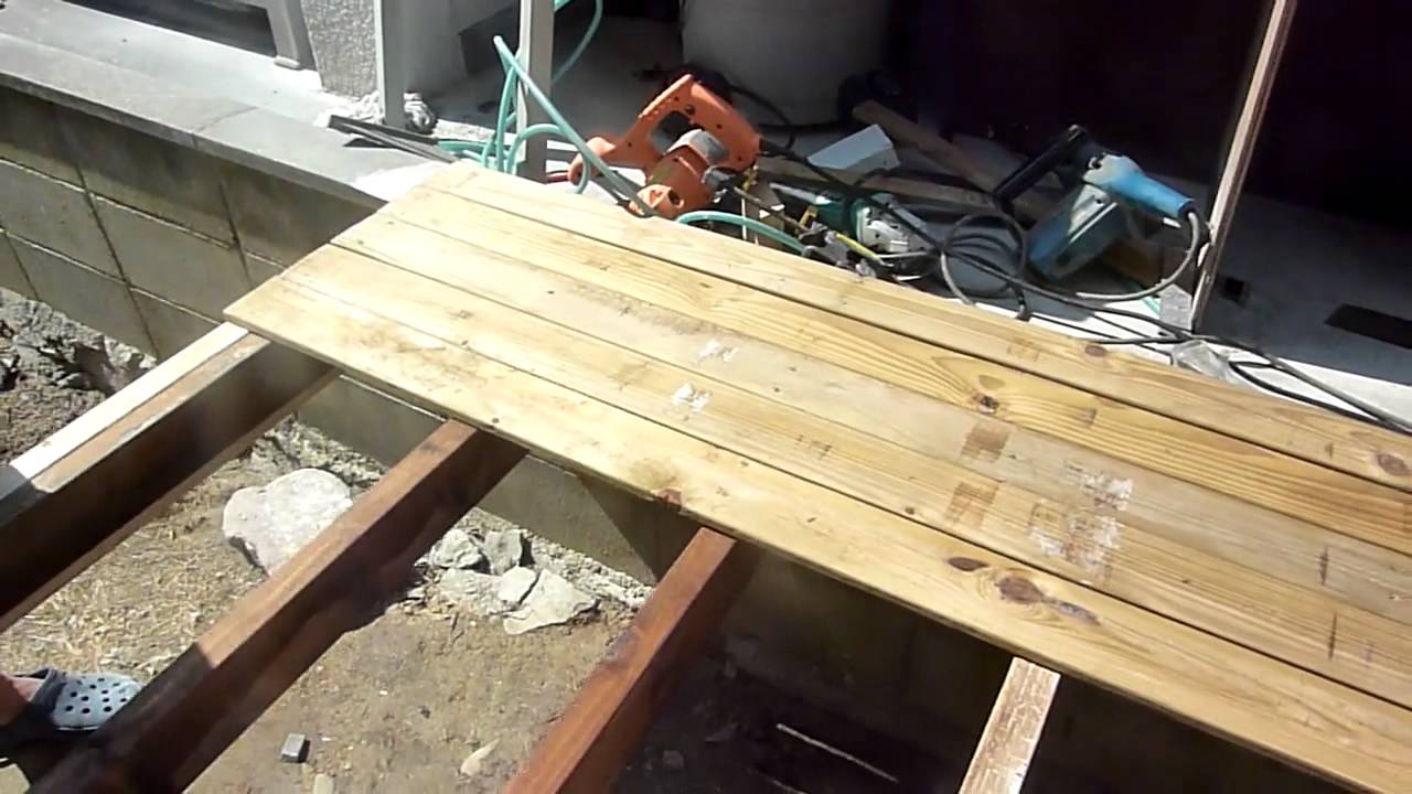 DIY 1How to Build a Wood Deck part1 - YouTube