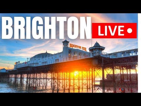 🔴 BRIGHTON LIVE - Seafront TOUR at Sunset