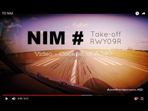 Take-off @ NIAMEY - Diori Hamani Int'l Airport (NIM/DRRN) Niger # Cockpit View - A340