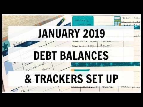 January 2019 Debt Balances & Tracker Pages | EC Deluxe Monthly | Giveaway Winner Announcement!!!