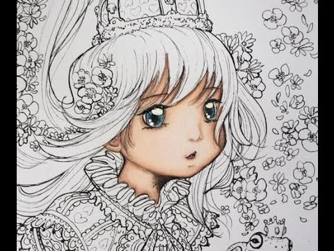 Camilla derrico pop manga coloring book the ghost with prismacolor part 1