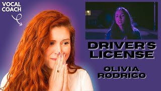 "OLIVIA RODRIGO I ""Drivers License"" I Vocal coach reacts!"