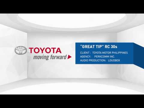 "Toyota Philippines ""GREAT TIP"" 30s radio commercial (May 2016 promo)"