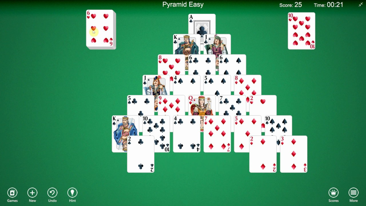 How To Play Pyramid Solitaire Youtube