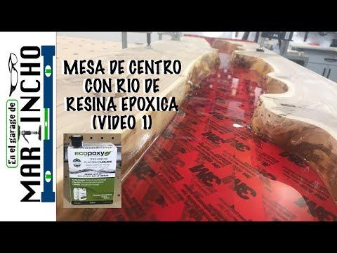 Mesa De Centro Con RESINA EPOXICA ( VIDEO 1)