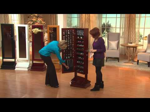 Gold & Silver Safekeeper Double-Sided Jewelry Armoire by Lori Greiner with Pat James-Dementri