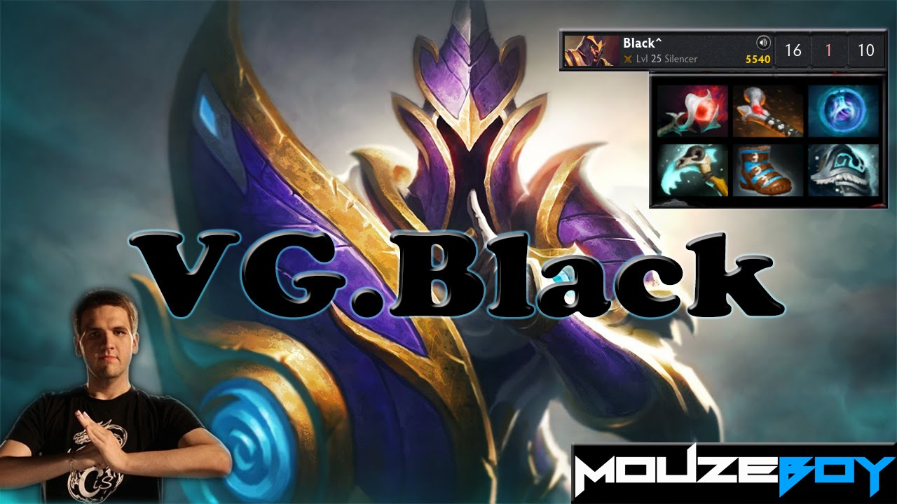 dota 2 how to carry silencer black vg 6500 mmr gameplay