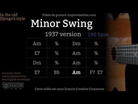 Minor Swing (190 bpm) (1937) - Gypsy jazz Backing track / Jazz manouche