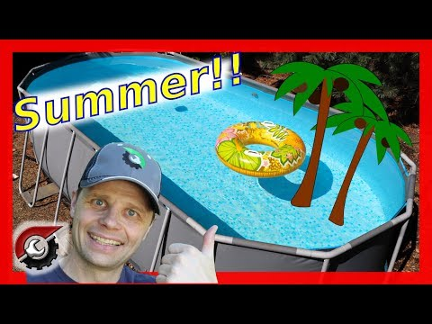 How I got my above ground pool ready for summer!  Costco Bestway Pool