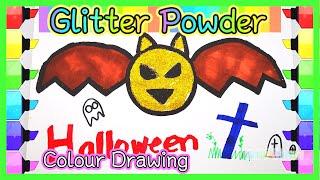 【Shining Powder Craft】Colors Drawing Art For Kids #儿童画画 |  颜色粉绘画 | 孩子最喜欢的画画