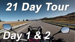 2016 africa twin 21 day tour nz south island day 1 2