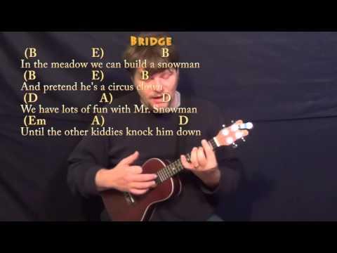 Winter Wonderland (Christmas) Ukulele Cover Lesson in G with Chords/Lyrics