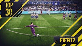 FIFA 17 | TOP 30 GOLES ... RABONA FREE KICK !!