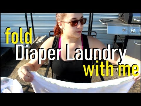 Fold Cloth Diaper Laundry With Me! Motherhood Chat : Working Mom Guilt, Mommy Time, + More!