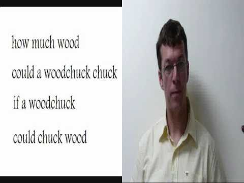 How much wood could a wood chuck - English Tongue Twister ...