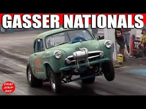 2013 Gasser Nationals Nostalgia Gas 1 Elim Gassers of the 60's Nostalgia Drag Racing Videos
