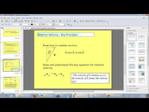 IGCSE Additional Maths - Relative Velocity