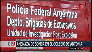 Amenaza de bomba en el colegio de Antonia