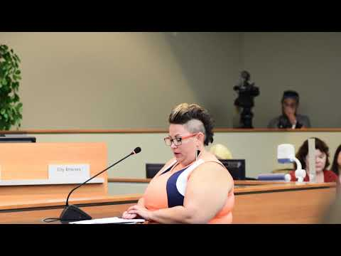 Angela Graham addresses the Tulsa City Council on the moratorium of District One.