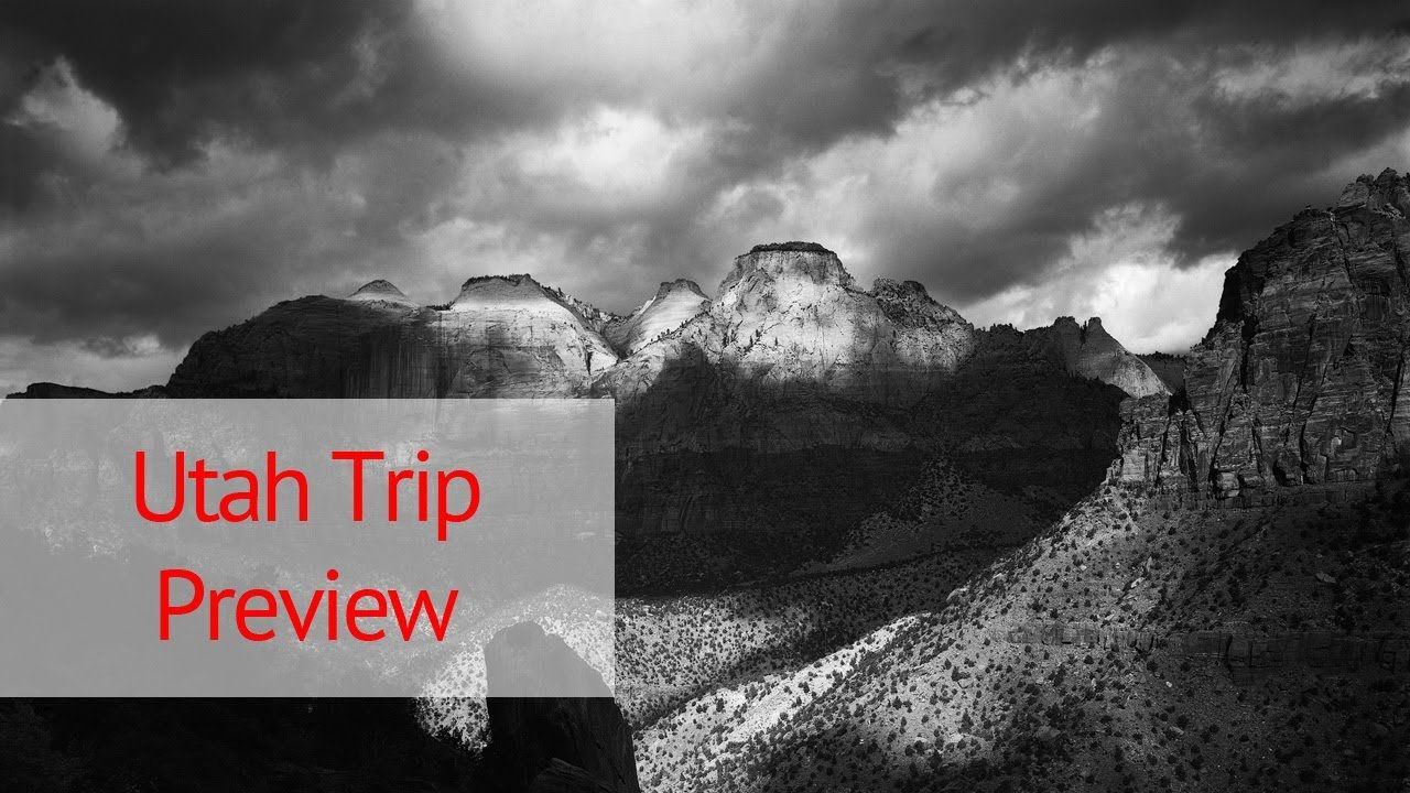 Utah Trip Preview Large Format Landscape Photography