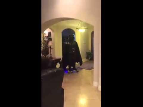 Darth Vader Falls off mini-segway VINE rideable