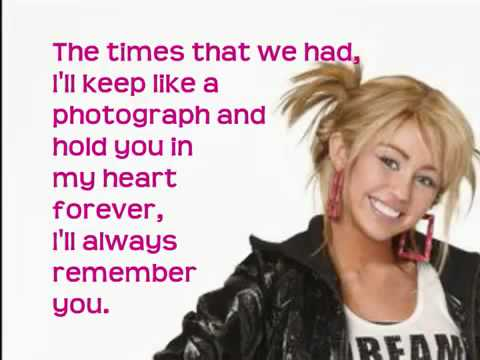 Hannah Montana Forever I'll Always Remember You With