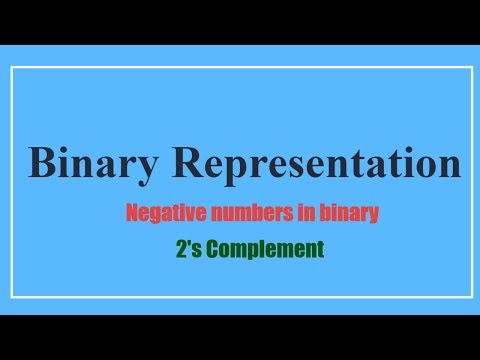 Binary negative numbers - 2's Complement (عربي)