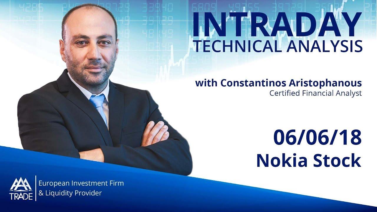 Intraday Technical Analysis: 06/06/18 Nokia Stock