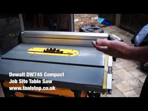 Dewalt DW745 Compact Job Site Table Saw - A Toolstop REVIEW
