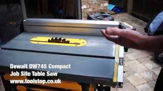 Dewalt Dw745 Compact Job Site Table Saw - A Toolstop Review
