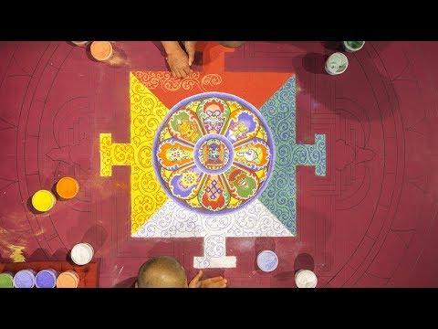 Bhutanese Monks Create A Sand Mandala February 26 Part 2