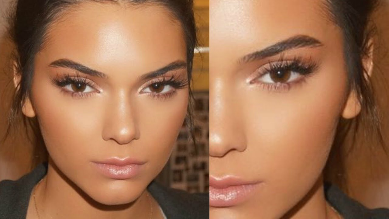 Kendall Jenner Glowing Skin Spring Makeup tutorial 2016 ...