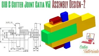 Gib and Cotter Joint| Assembly Design: Part-2 |Catia Tutorial