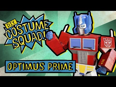 Make Your Own Optimus Prime With Cardboard - DIY Costume Squad
