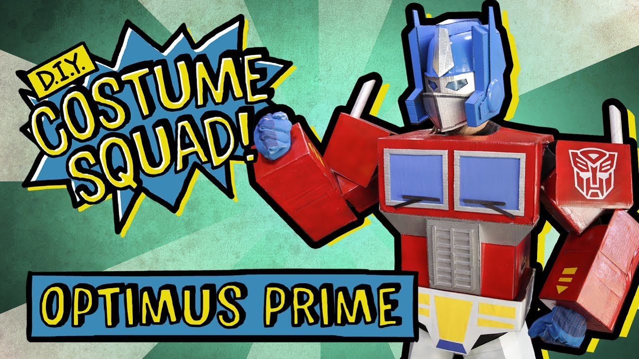 Make your own optimus prime with cardboard diy costume squad youtube make your own optimus prime with cardboard diy costume squad solutioingenieria Gallery