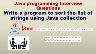 How to sort the list of strings using Java collection | Automation testing Interview questions