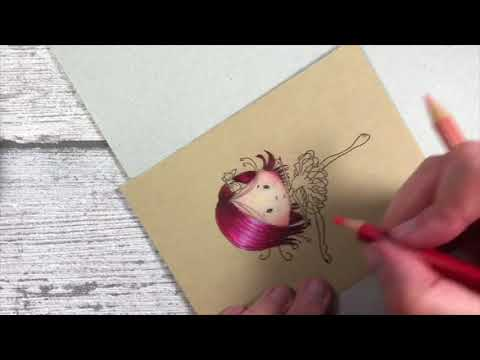 LDRS - Tutorial coloring with pencils on kraft paper