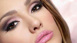 Уроки макияжа!  -   Как сделать нежный макияж розовыми тенями!