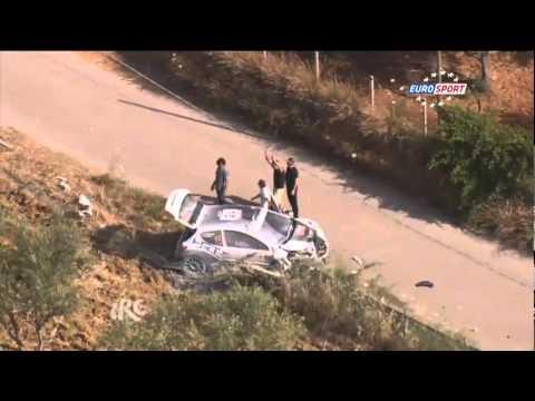 IRC Rally Targa Florio 2012 - SS 8 crash of Craig Breen and co-driver Robert Gareth