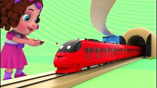 Pinky and Panda Fun Play with Preschool Toy Trains - Color Videos for Children