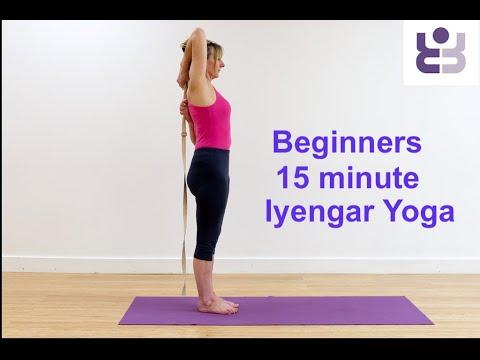 iyengar yoga for beginners 15 minute class for upper back